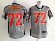 Mens Nfl San Francisco 49ers #72 Fisher Gray Shadow Elite Jersey