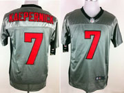 mens nfl San Francisco 49ers #7 Colin Kaepernick gray shadow elite jersey