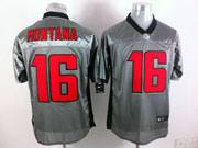 Mens Nfl San Francisco 49ers #16 Montana Gray Shadow Elite Jersey