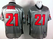 Mens Nfl San Francisco 49ers #21 Gore Gray Shadow Elite Jersey