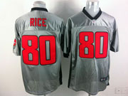 Mens Nfl San Francisco 49ers #80 Rice Gray Shadow Elite Jersey