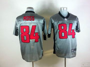 Mens Nfl San Francisco 49ers #84 Moss Gray Shadow Elite Jersey