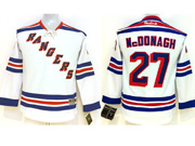 youth reebok nhl new york rangers #27 mcdonagh white Jersey