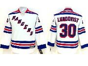youth reebok nhl new york rangers #30 lundqvist white Jersey