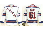 youth reebok nhl new york rangers #61 nash white Jersey