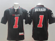 Mens Cfl Ottawa Redblacks #1 Burris Black Jersey