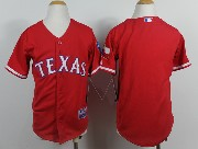 Youth Mlb Texas Rangers (blank) Red Jersey