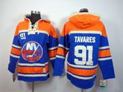 Mens nhl new york islanders #91 tavares blue hoodie Jersey