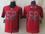 Youth Nfl San Francisco 49ers #52 Willis Red 2014 New Drift Fashion Elite Jersey