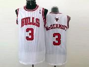 Mens Nba Chicago Bulls #3 Mcdermott (bulls) White Jersey (m)