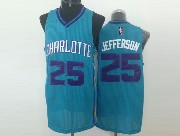 Mens Nba Charlotte Hornets #25 Jefferson Teal Jersey