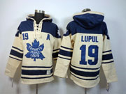 Mens nhl toronto maple leafs #19 lupul cream color 3rd a patch hoodie Jersey