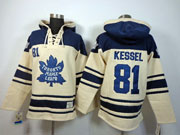 Mens nhl toronto maple leafs #81 kessel cream color 3rd hoodie Jersey