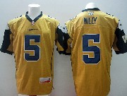 Mens Cfl Winnipeg Blue Bombers #5 Willy Gold Jersey