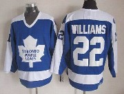 Mens Nhl Toronto Maple Leafs #22 Williams Blue Throwbacks Jersey Dt