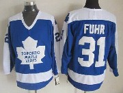 Mens Nhl Toronto Maple Leafs #31 Fuhr Blue Throwbacks Jersey Dt