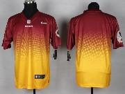 Mens Nfl Washington Redskins (blank) Red&yellow Drift Fashion Ii Elite Jersey