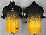 Mens Nfl Pittsburgh Steelers (blank) Black&yellow Drift Fashion Ii Elite Jersey