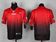 Mens Nfl San Francisco 49ers (blank) Red&black Drift Fashion Ii Elite Jersey