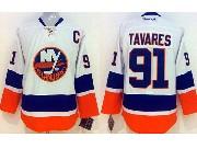 Mens reebok nhl new york islanders #91 tavares white Jersey