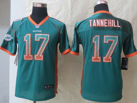 Youth Nfl Miami Dolphins #17 Tannehill Green 2014 Drift Fashion Elite Jersey