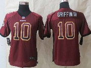 Youth Nfl Washington Red Skins #10 Griffin Iii Red 2014 Drift Fashion Elite