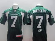 Mens Cfl Saskatchewan Roughriders #7 Dressler Green Jersey