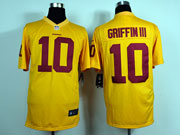 Mens Nfl Washington Redskins #10 Griffin Iii Yellow Game Jersey