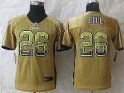 youth nfl Pittsburgh Steelers #26 Le'veon Bell yellow (2014 new drift fashion) elite jersey