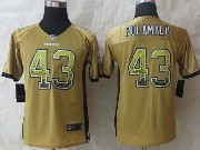 Youth Nfl Pittsburgh Steelers #43 Polamalu Yellow (2014 New Drift Fashion) Elite Jersey