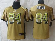 youth nfl Pittsburgh Steelers #84 Antonio Brown yellow (2014 new drift fashion) elite jersey