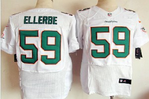 Mens Nfl Miami Dolphins #59 Ellerbe White (2013 New) Elite Jersey