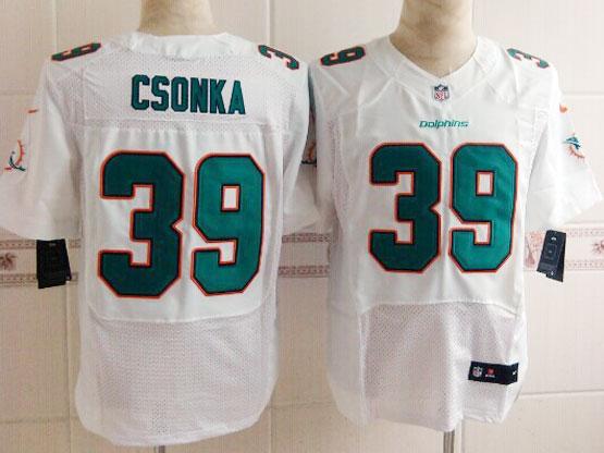 Mens Nfl Miami Dolphins #39 Csonka White (2013 New) Elite Jersey