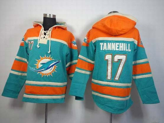 Mens Nfl Miami Dolphins #17 Tannehill Green (team Hoodie) Jersey