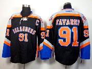 Mens reebok nhl new york islanders #91 tavares black third Jersey
