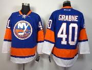 Mens reebok nhl new york islanders #40 grabne blue Jersey
