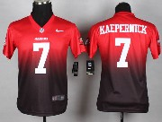 youth nfl San Francisco 49ers #7 Colin Kaepernick red&purple drift fashion ii elite jersey