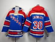 youth nhl new york rangers #30 lundqvist light blue hoodie Jersey