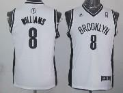 Youth Nba Brooklyn Nets #8 Williams White Jersey