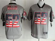 Mens Nfl New San Francisco 49ers #52 Wills 2014 Usa Flag Fashion Gray Shadow Elite Jerseys