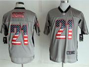 Mens Nfl New San Francisco 49ers #21 Gore 2014 Usa Flag Fashion Gray Shadow Elite Jerseys