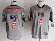mens nfl new San Francisco 49ers #7 Colin Kaepernick 2014 usa flag fashion gray shadow elite jerseys