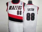 Mens Nba Portland Trail Blazers #88 Batun White Mesh Jersesy