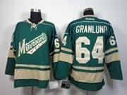 Mens reebok nhl minnesota wild #64 granlund green Jersey