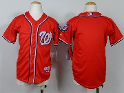 youth mlb washington nationals (blank) red Jersey