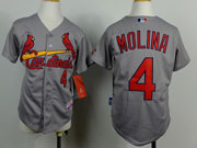 Youth Mlb St.louis Cardinals #4 Molina Gray Jersey