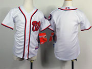 youth mlb washington nationals (blank) white Jersey