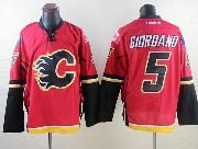 Mens Reebok Nhl Calgary Flames #5 Giordano Red Jersey