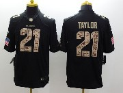 Mens Nfl Washington Redskins #21 Taylor Salute To Service Black Limited Jersey