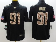 Mens Nfl Miami Dolphins #91 Wake Salute To Service Black Limited Jersey